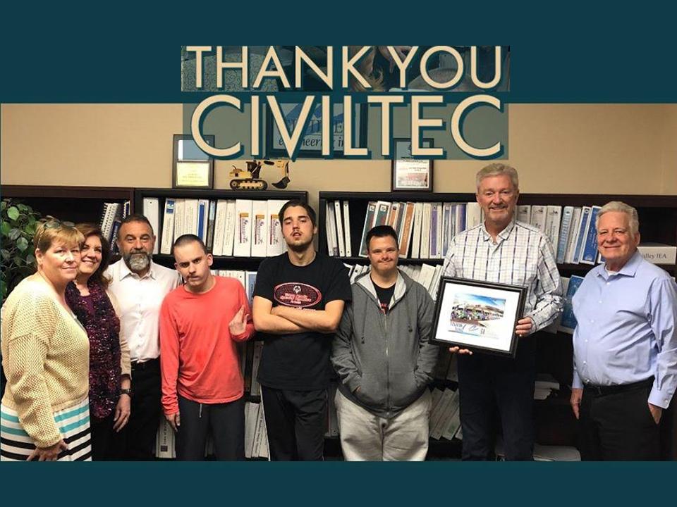 DEC thanking Civiltec